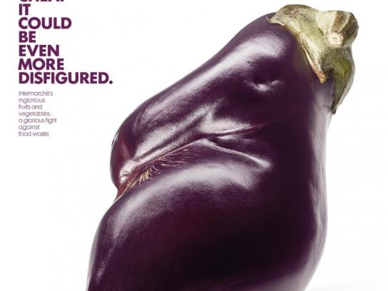 Intermarche Print Ad -  Disfigured eggplant