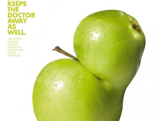 Intermarche Print Ad -  Grotesque apple