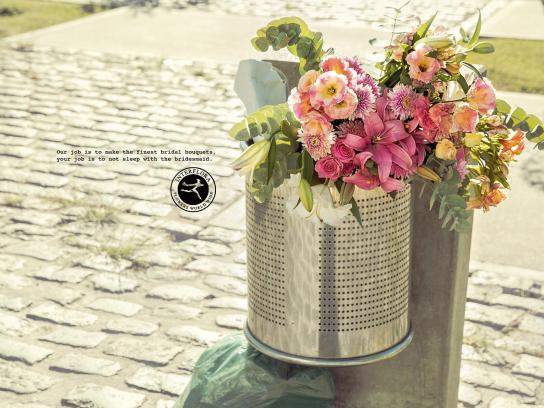 Interflora Print Ad - Bridesmaid
