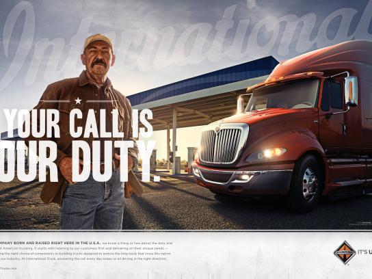 International Trucks Print Ad -  Call Of Duty