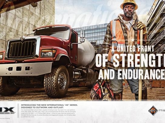 International Trucks Print Ad -  United Front Of Strength