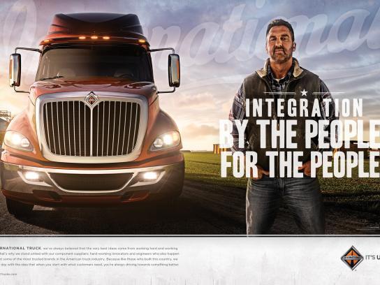 International Trucks Print Ad -  Integration For The People