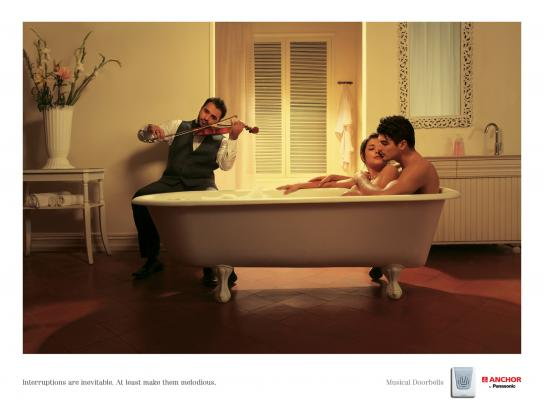 Panasonic Print Ad -  Interruptions Bath