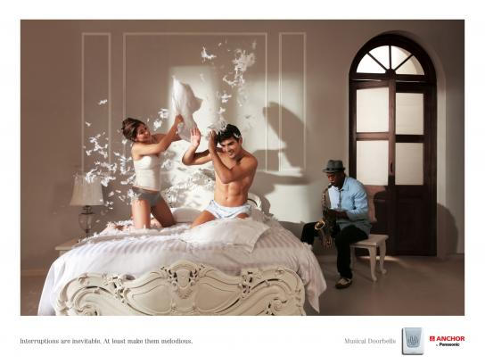 Panasonic Print Ad -  Interruptions Pillow Fight