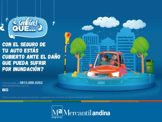 Mercantil Andina Print Ad - Flood