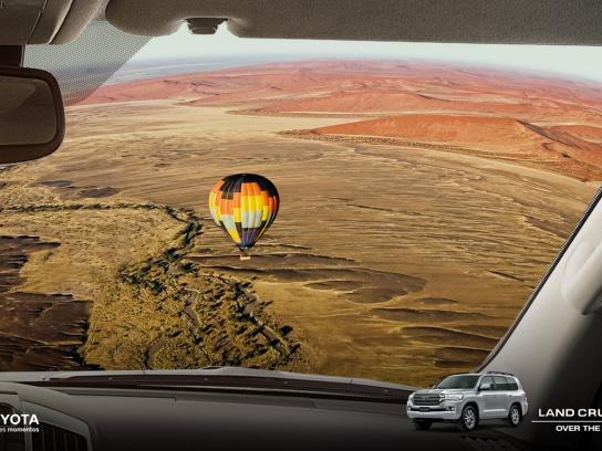 Toyota Print Ad - Over The Top, 2