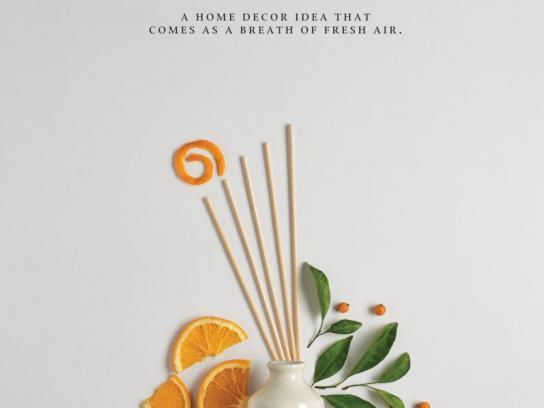 Iris Home Fragrances Print Ad - Orange