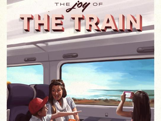 Iarnród Eireann Print Ad - Rediscover the Joy of the Train, 1