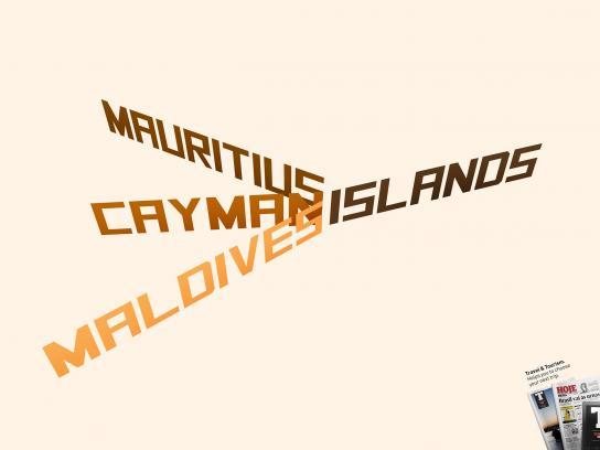 Hoje em Dia Print Ad -  Islands
