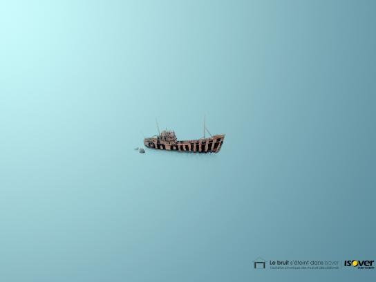 Isover Print Ad -  Ship wreck