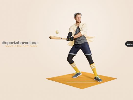 Barcelona City Council Print Ad -  #sportnbarcelona, 1