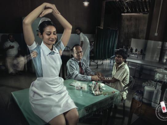 Janet Deodorant Print Ad -  Nurse