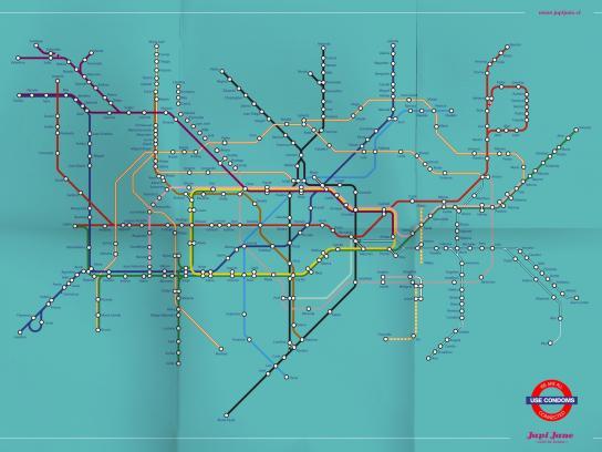 Japi Jane Print Ad -  Use a condom, Metro