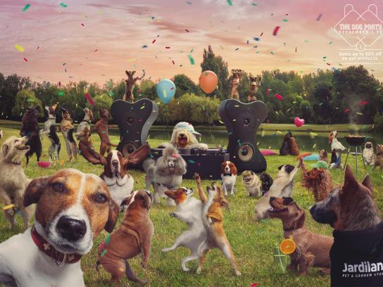 Jardiland Print Ad - The dog party