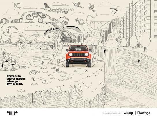 Jeep Print Ad -  Secret garden, 1