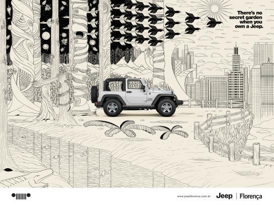 Jeep Print Ad -  Secret garden, 2