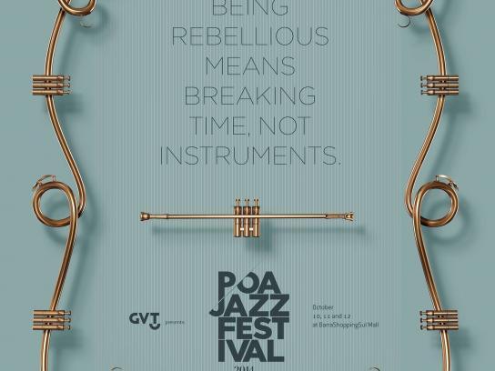 Poa Jazz Festival Print Ad -  Breaking