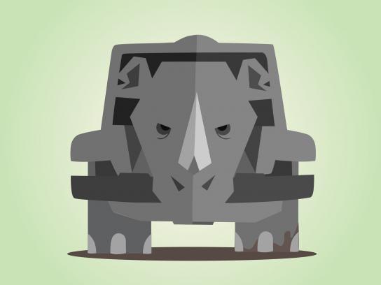 Jeep Print Ad - Elephant