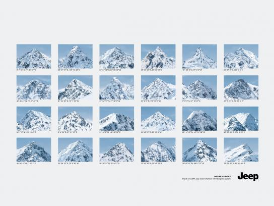 Jeep Print Ad -  Mountains
