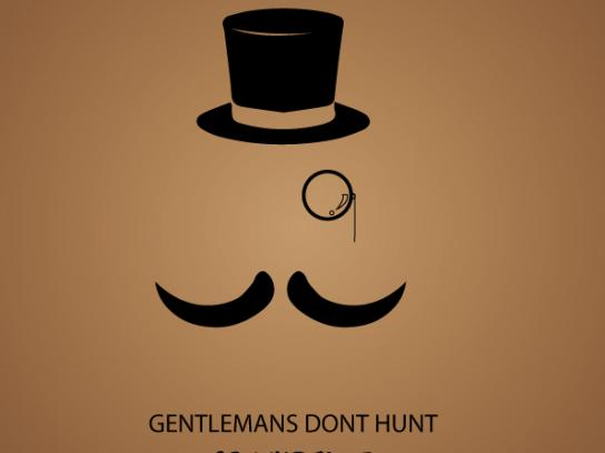 Greenpeace Print Ad - Gentleman's don't hunt, 1