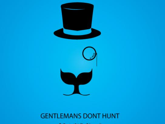 Greenpeace Print Ad - Gentleman's don't hunt, 2