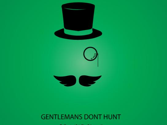 Greenpeace Print Ad - Gentleman's don't hunt, 3