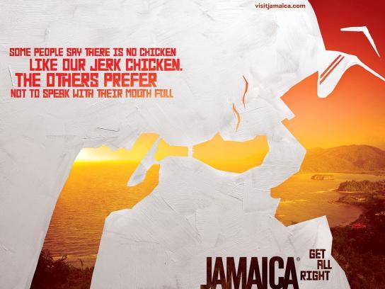 Jamaica Tourist Board Print Ad -  Jerk chicken