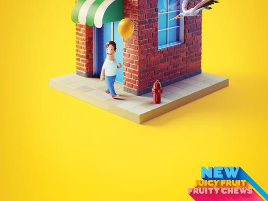 Juicy Fruit Print Ad -  Bird