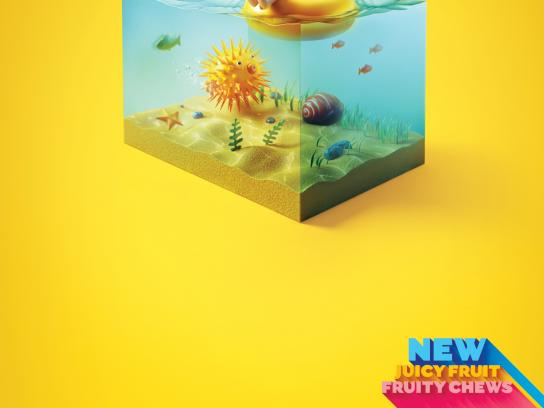 Juicy Fruit Print Ad -  Blowfish