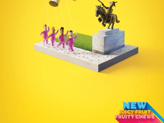 Juicy Fruit Print Ad -  Hippo