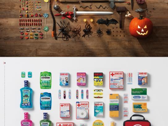 Johnson & Johnson Print Ad -  Halloween