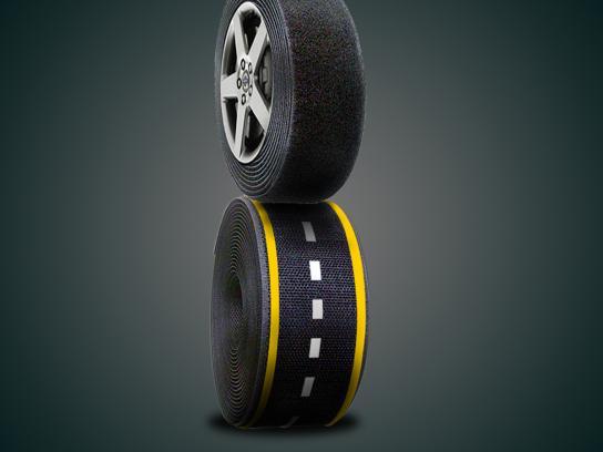 JK Tyre Print Ad -  Velcro
