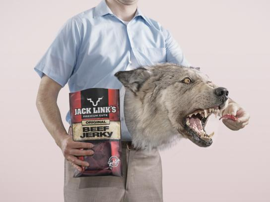 Jack Link's Print Ad -  Wolf