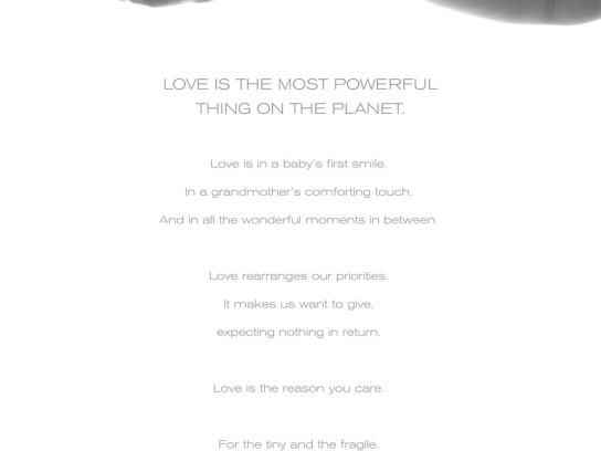 Johnson & Johnson Print Ad -  For All You Love