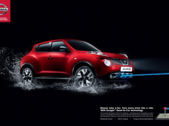 Nissan Print Ad -  Urban Thrill Rides