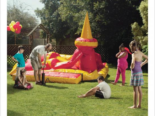 First Choice Jelly Print Ad -  Jumping Castle