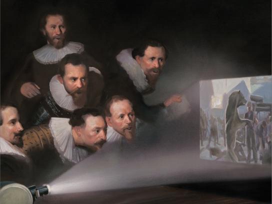 Art Directors Club Print Ad -  Let The Art Decide, Jury Table