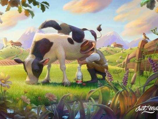 Asturiana Print Ad - Just milk