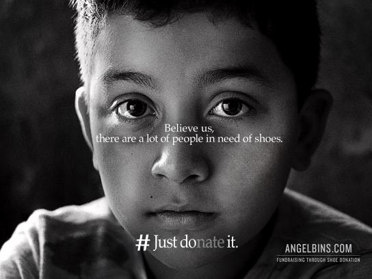 Angel Bins Print Ad - #Just Donate It, 1