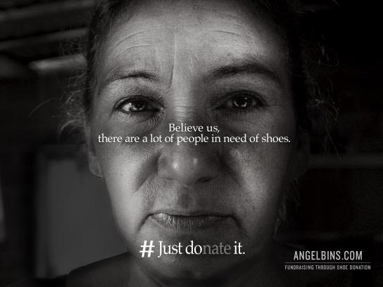 Angel Bins Print Ad - #Just Donate It, 2