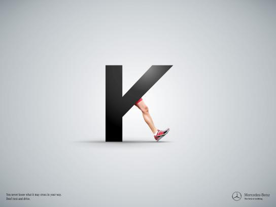 Mercedes Print Ad -  K