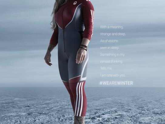 Canadian Olympic Committee Print Ad -  #wearewinter, 2