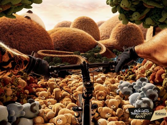Kalassa Print Ad -  Worry less - Mountain biking