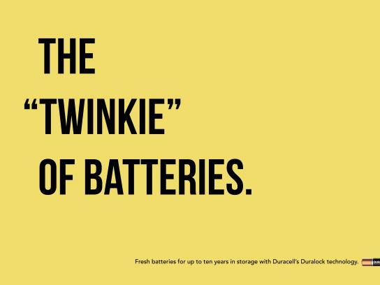 "Duracell Print Ad - The ""Twinkie"" of Batteries"