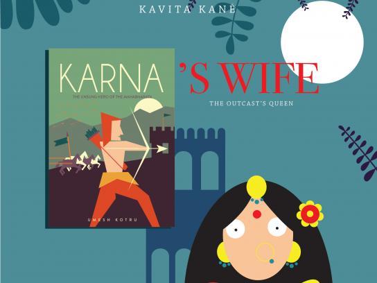OM Book Shop Print Ad - Karna's Wife