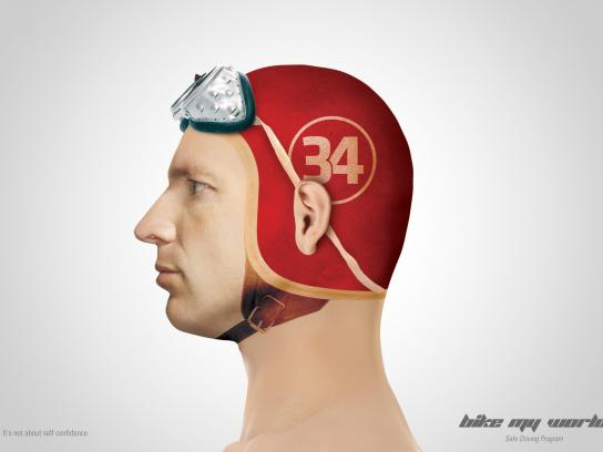 Bike My World Print Ad -  Helmet, 2
