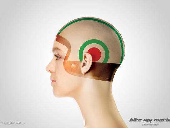 Bike My World Print Ad -  Helmet, 3