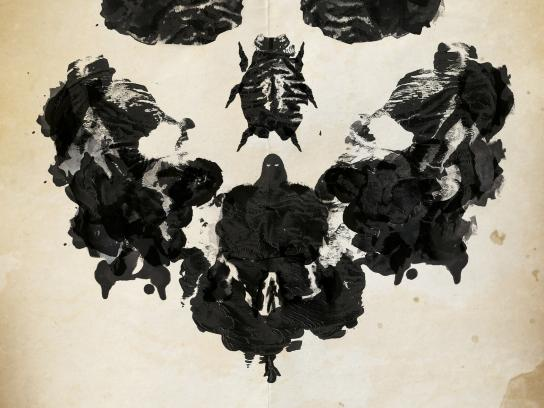 Seuil Publishing Print Ad -  Rorschach skull