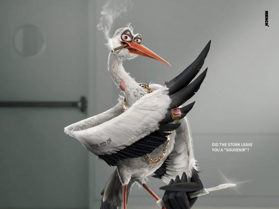 Kelo-cote Print Ad - Stork