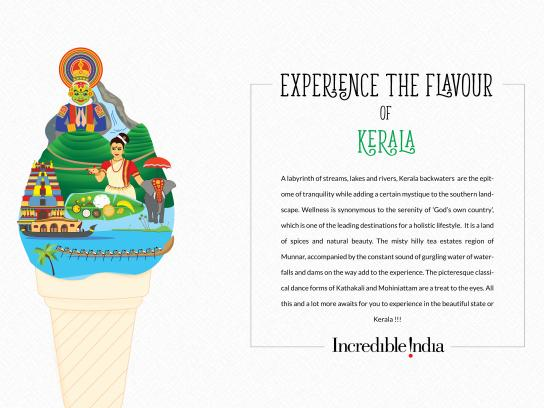 Incredible India Print Ad - Flavours of India - Kerala